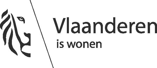 """tekst """"Vlaanderen is wonen"""""""